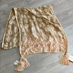 Saks Fifth Avenue burnt silk scarf wrap